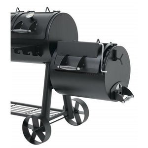 Position 1 of the side smoker on the Indianapolis BBQ