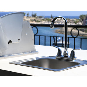 Small Stainless Steel Sink & Taps for a Built In BBQ - Gardenbox