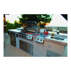 Large Stainless Steel Sink & Taps for a Built In BBQ - Gardenbox