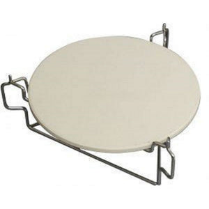 "Ceramic Universal Heat Deflector Pizza Stone for 15.7"" Kamado Charcoal BBQ Big Green Egg - Gardenbox"
