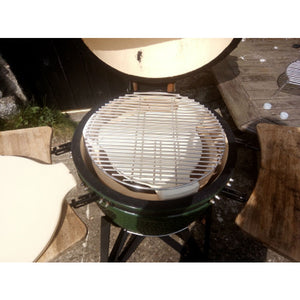 "Ceramic Universal Heat Deflector for 20"" Kamado Charcoal BBQ Big Green Egg - Gardenbox"
