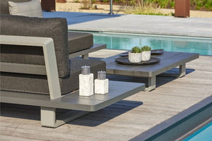 The Life Fitzroy Aluminium Corner Set with Side Tables and Coffee Table