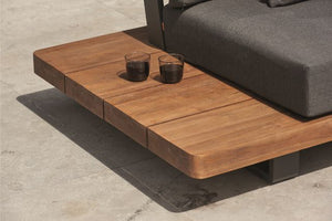 The Life Fitzroy Teak Corner Set with Side Tables and Coffee Table