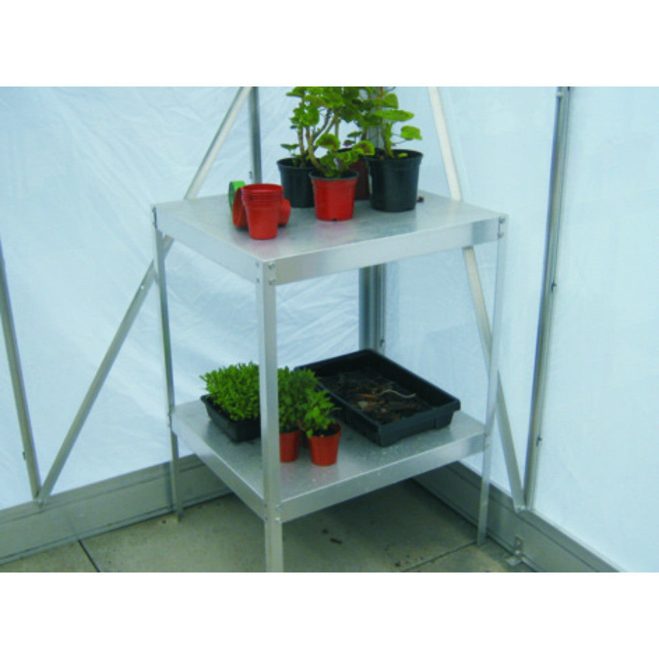 """18"""" Wide Aluminium Greenhouse Staging Choice Of Colours"""