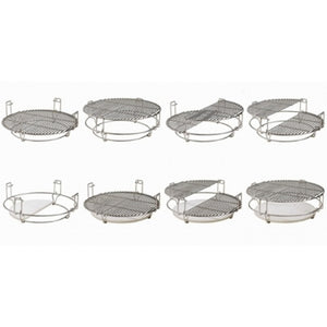 "Universal Divide and Conquer Flexible Cooking System for 21"" Kamado Charcoal BBQ - Gardenbox"
