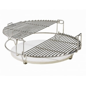 "Universal Divide and Conquer Flexible Cooking System for 20"" Kamado Charcoal BBQ - Gardenbox"
