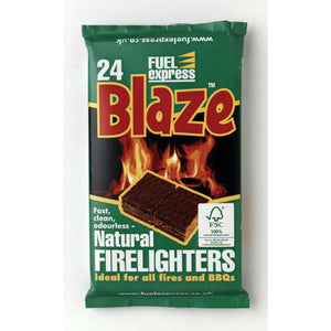 Charcoal BBQ Firelighters | Make Lighting that BBQ Easy | Pack of 24 - Gardenbox