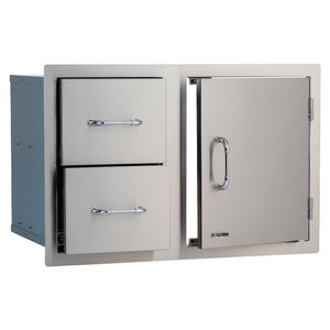 Door & Drawer Built In BBQ Combination Cupboard in Stainless Steel - Gardenbox