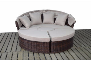 Dark Brown Rattan Large Day Bed | Falmouth Range - Gardenbox