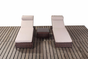 Dark Brown Rattan Pair of Garden Loungers | Falmouth Range - Gardenbox