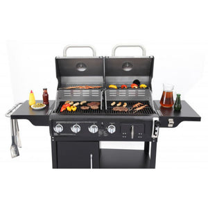 Tepro Buffalo Gas & Charcoal Combi BBQ with shelves