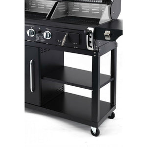 Storage shelves on the Tepro Buffalo Combi BBQ