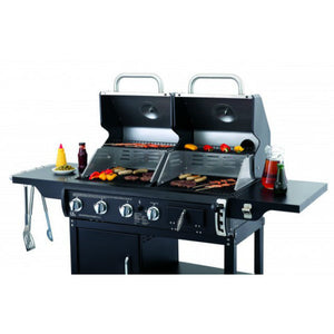 Cook with gas & charcoal on the Tepro Buffalo Combi BBQ