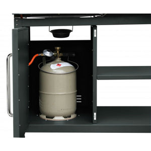 Cabinet for gas bottle storage on the Tepro Buffalo Combi BBQ