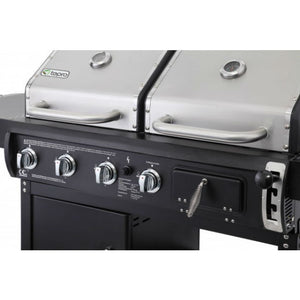 Easy ignition of the 3 gas burners on the Tepro Buffalo Combi BBQ