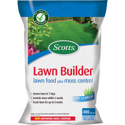 Scotts Lawn Builder Lawn Food Plus Moss Control - Choice of Sizes - Gardenbox
