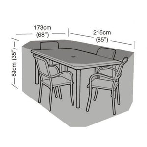 Rectangular Table Standard Waterproof Patio Furniture Cover in Green - Various Sizes - Gardenbox
