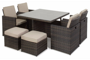 5 Piece Cube Set by Maze Rattan - Gardenbox