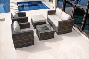 5 Piece Sofa Set with Ice Bucket by Maze Rattan - Gardenbox