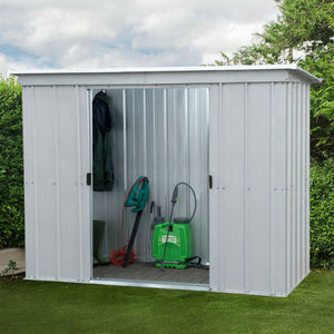 Metal Garden Pent Shed 6ft Wide by 4ft Deep 64PZ by Yardmaster - Gardenbox