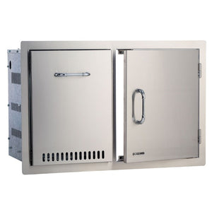 Large Door & Propane Tank Drawer Built In BBQ Combination Cupboard in Stainless Steel - Gardenbox