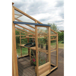 Gabriel Ash 6x8 Essentials Wooden Lean-to Greenhouse - Gardenbox