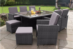 7 Piece Cube Set by Maze Rattan - Gardenbox