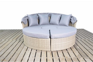 Natural Wicker Style Rattan Large Day Bed | Coast Range - Gardenbox