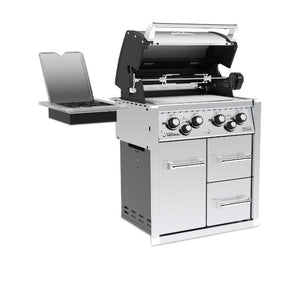 Broil King Imperial 490 4 Burner Built In Gas BBQ and Cabinets - Gardenbox