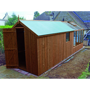 Add a Rear Shed Door in your Combination Shed for your Swallow Kingfisher Greenhouse - Gardenbox
