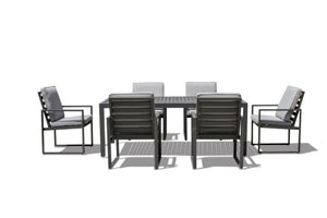 Amalfi 6 Seat Rectangular Dining Set by Maze Rattan - Gardenbox