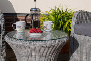 Ascot Bistro Set with Weatherproof Cushions by Maze Rattan - Gardenbox