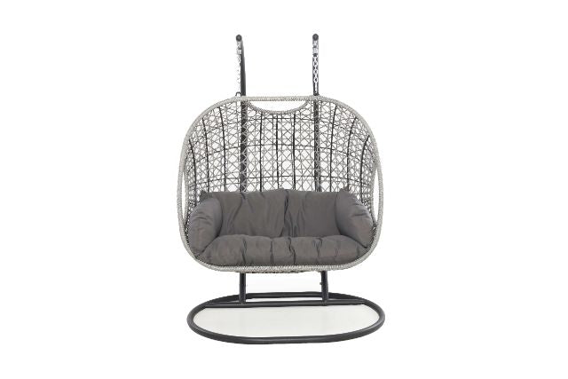 Ascot Double Hanging Chair With Weatherproof Cushions Maze Rattan Gardenbox