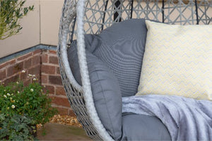 Ascot Hanging Chair with Weatherproof Cushions by Maze Rattan - Gardenbox
