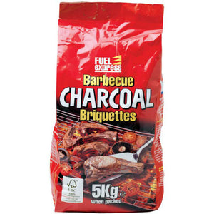 5kg bag of quality charcoal briquettes for your charcoal BBQ by Gardenbox