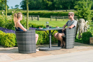 2 Seat Balcony Bistro Set by Maze Rattan