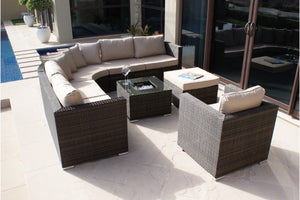 Barcelona Corner Group with Ice Bucket and Chair by Maze Rattan - Gardenbox