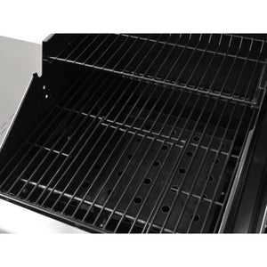 Large adjustable height charcoal tray on the Outback Combi 4