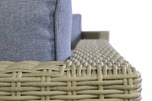 Close up on the natural wicker style rattan Garden Furniture Coast Range by Gardenbox