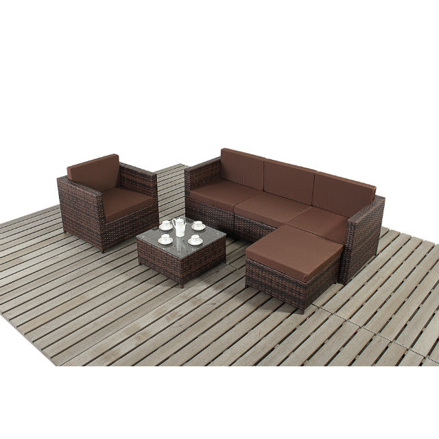 Rattan Corner Sofa Garden Set: Funky Small Rattan Corner Sofa Garden Furniture Set