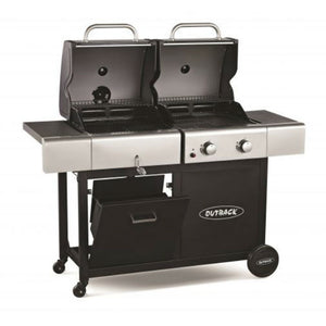 Outback 2 Burner Gas & Charcoal Dual Fuel BBQ - Gardenbox