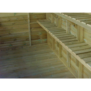 Add a Solid Floor for your 6ft Wide by 6ft Deep Combination Shed for your Swallow Kingfisher Greenhouse - Gardenbox
