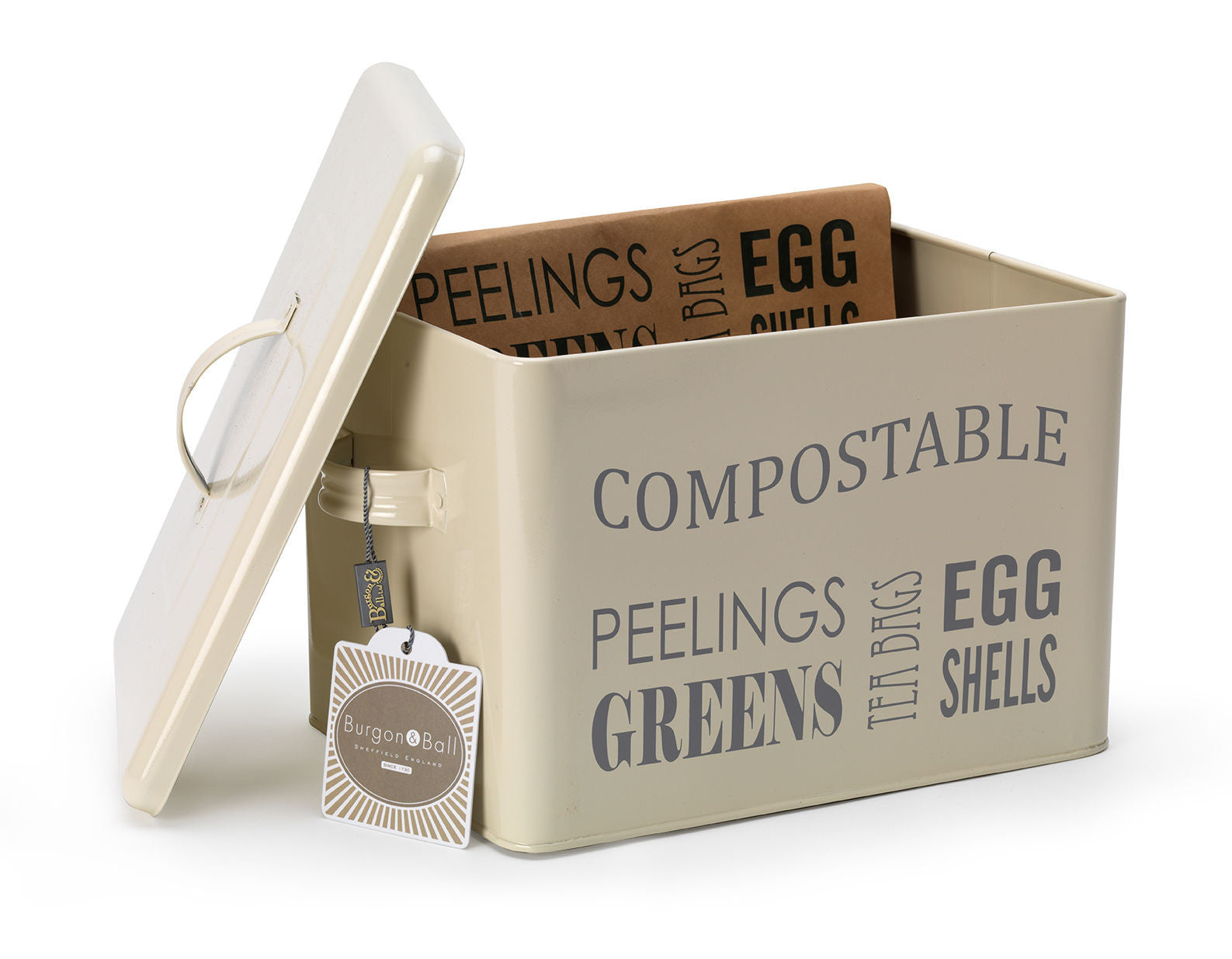 Enamel Large Kitchen Recycle Bin Compost Caddy Choice Of