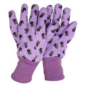 Children's Gardening Gloves Dylan Dinosaur & Cooke Cat - Size Medium - Gardenbox
