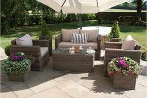 Square Shaped 2 seater sofa with matching chairs from Gardenbox