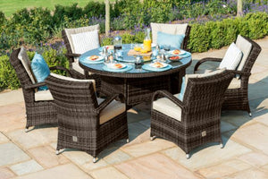 6 Seat Round Dining Set with Ice Bucket by Maze Rattan