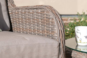 Harrogate Bistro Set With Weatherproof Cushions by Maze Rattan