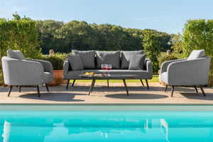Maze Rattan Ambition 3 Seat Sofa Set In Weatherproof Fabric - Gardenbox