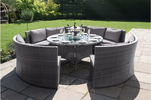 Dallas Dining Sofa Set by Maze Rattan - Gardenbox