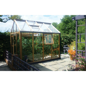 4 Vents included in the 6x8 Gabriel Ash Essentials Wooden Greenhouse